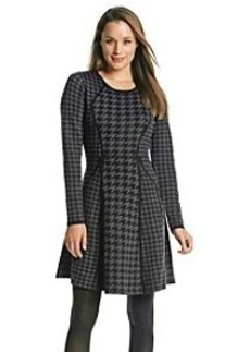 Calvin Klein Houndstooth Print Sweater Dress