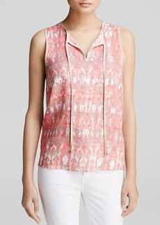 Calvin Klein Ikat Front Keyhole Top