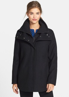 Calvin Klein Inset Bib Wool Blend Jacket