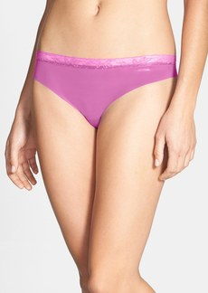 Calvin Klein 'Invisibles' Lace Trim Thong