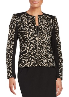 CALVIN KLEIN Jacquard Animal Print Jacket
