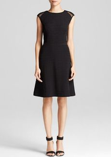 Calvin Klein Jacquard Mesh Sleeve Dress