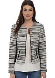 Calvin Klein Jaquard Zipper Front Jacket