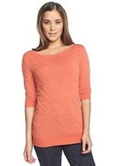Calvin Klein Jeans® 3/4 Sleeve Boatneck Sweater