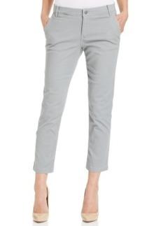 Calvin Klein Jeans Abbreviated Crop Straight-Leg Jeans