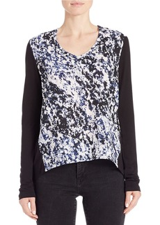 CALVIN KLEIN JEANS Abstract-Print Hi-Lo Tee
