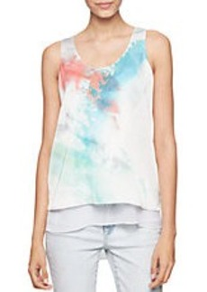 CALVIN KLEIN JEANS Abstract Print Tiered-Hem Blouse