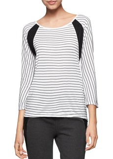CALVIN KLEIN JEANS Boatneck Striped Top