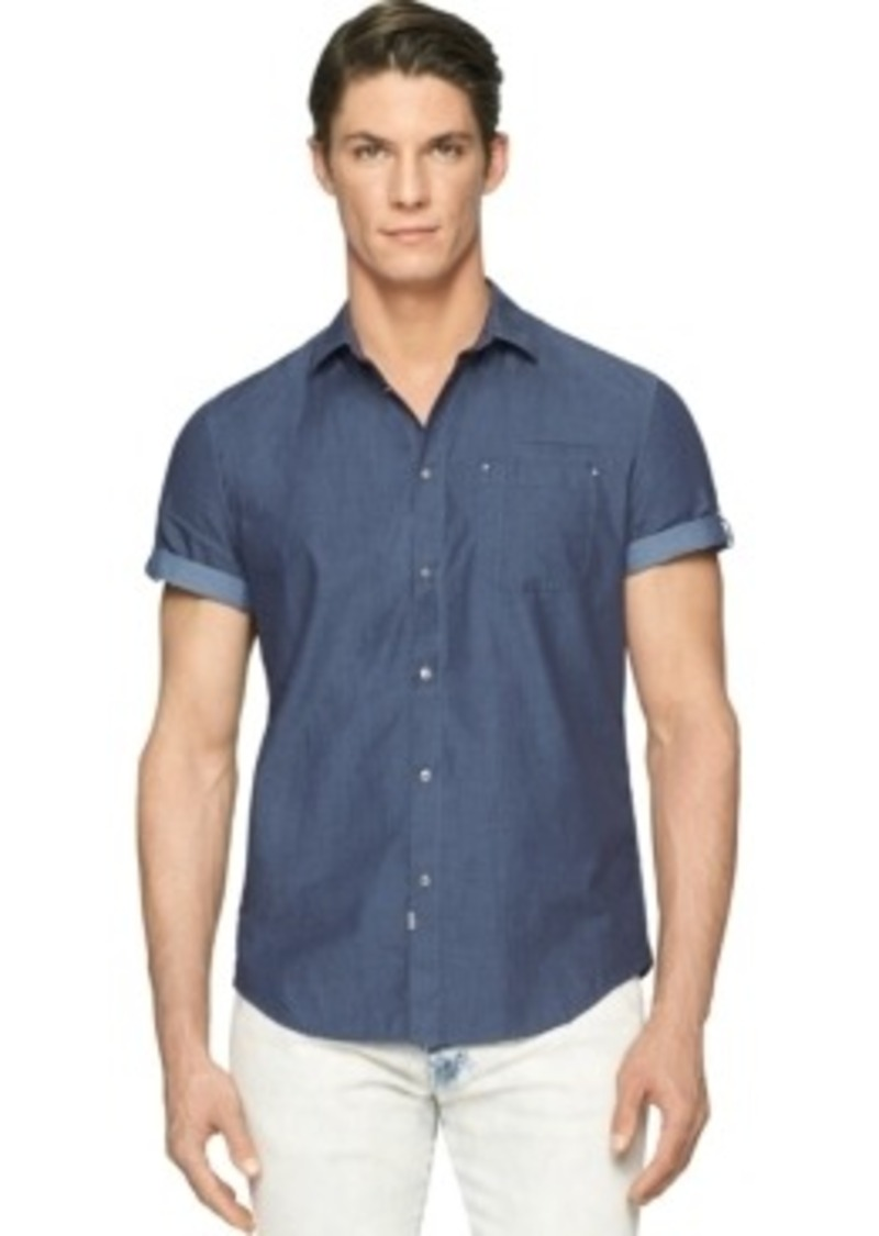 Calvin Klein Calvin Klein Jeans Chambray Utility Shirt