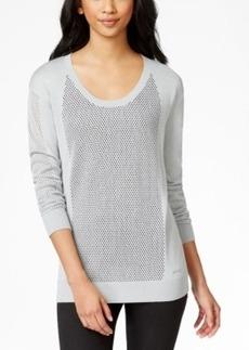 Calvin Klein Jeans Crew-Neck Mesh Sweater