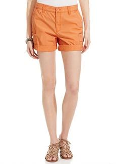 Calvin Klein Jeans Cuffed Twill Utility Shorts