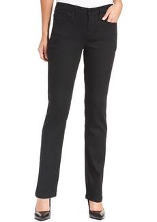 Calvin Klein Jeans Curvy-Fit Straight-Leg Jeans, Black Wash