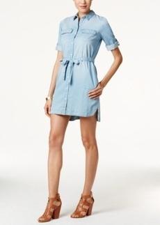 Calvin Klein Jeans Drawstring-Waist Denim Shirtdress