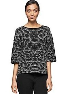 Calvin Klein Jeans® Felted Jacquard Crew Top