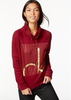 Calvin Klein Jeans Funnel-Neck Graphic-Logo Sweatshirt