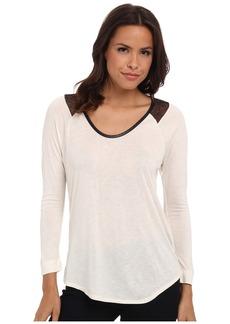 Calvin Klein Jeans Lace Raglan Sleeve Top