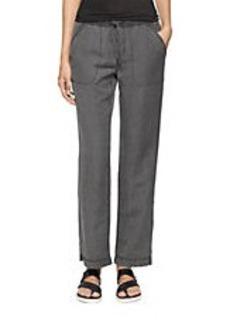 CALVIN KLEIN JEANS Linen-Blend Drawstring Relaxed Leg Pants