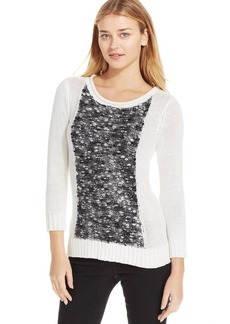 Calvin Klein Jeans Long-Sleeve Boucle-Knit Sweater