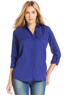 Calvin Klein Jeans Long-Sleeve Button-Front Shirt