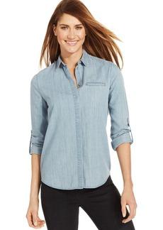 Calvin Klein Jeans Long-Sleeve Chambray Denim Shirt