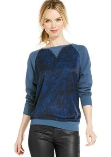 Calvin Klein Jeans Long-Sleeve Mixed-Media Sweatshirt