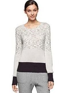 Calvin Klein Jeans® Plush Blocked Crew Sweater