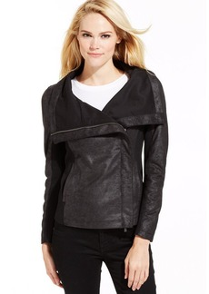 Calvin Klein Jeans Ponte-Knit Coated Motorcycle Jacket