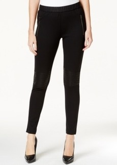 Calvin Klein Jeans Ponte Skinny Jeggings, Black Wash
