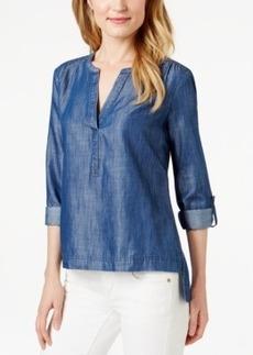 Calvin Klein Jeans Popover Chambray Top