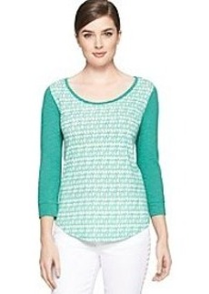 Calvin Klein Jeans® Scoop Neck Printed Top