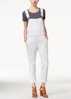 Calvin Klein Jeans Skinny Fiji White Wash Denim Overalls