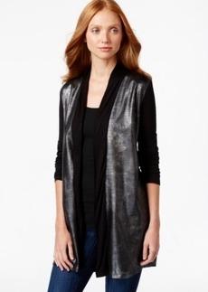 Calvin Klein Jeans Snakeskin-Print Long-Sleeve Cardigan