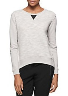 CALVIN KLEIN JEANS Terry Hi-Lo Pullover
