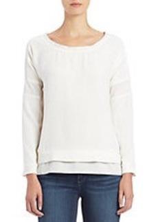 CALVIN KLEIN JEANS Texture Block Woven Sweater