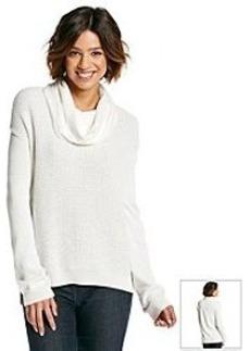 Calvin Klein Jeans Textured Lurex Cowlneck Sweater