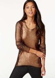 Calvin Klein Jeans Textured Metallic-Foil Sweater