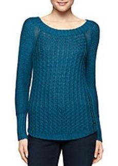 CALVIN KLEIN JEANS Textured Pullover Sweater
