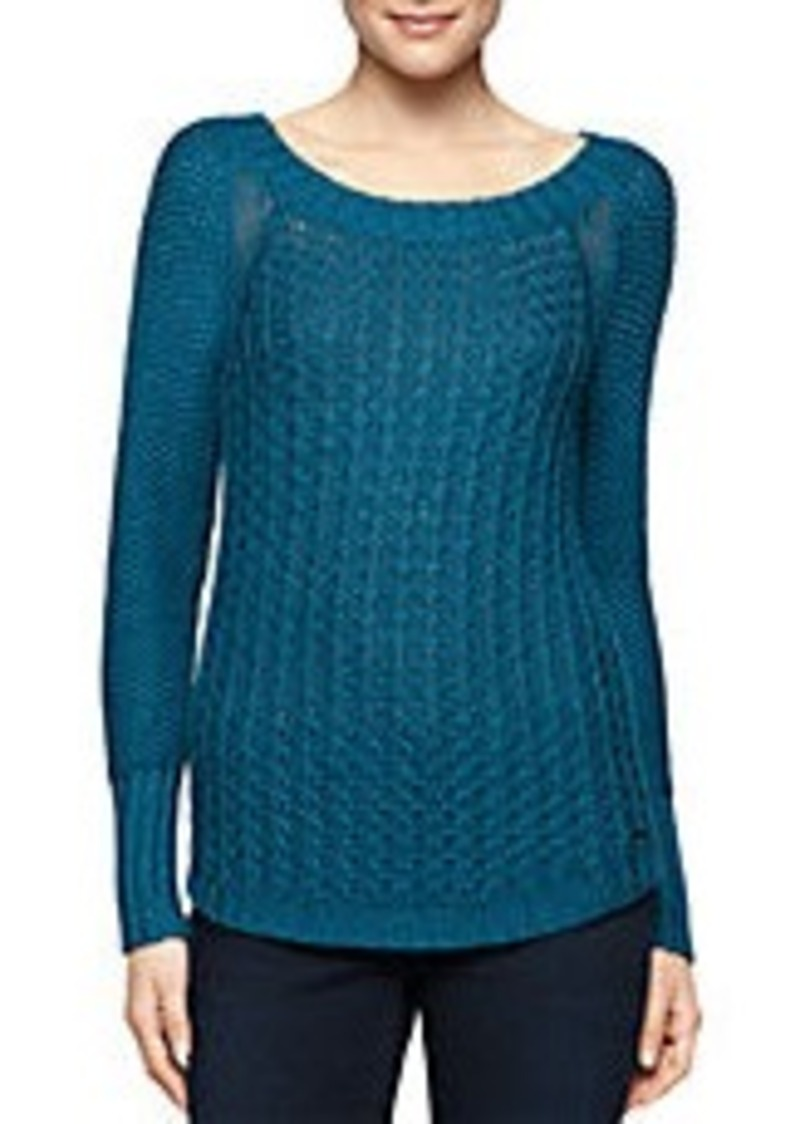 calvin klein calvin klein jeans textured pullover sweater. Black Bedroom Furniture Sets. Home Design Ideas