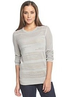 Calvin Klein Jeans® Textured Stripe Crew Neck Sweater