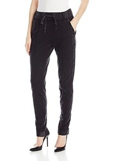 Calvin Klein Jeans Women's Acid Wash Skinny Jogger Pant, Black, Small
