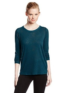 Calvin Klein Jeans Women's Burnout Long-Sleeve Top