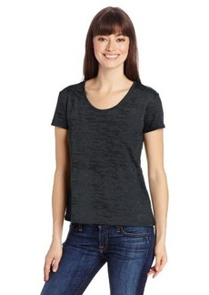 Calvin Klein Jeans Women's Burnout Short Sleeve Scoop Tee