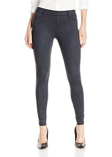 Calvin Klein Jeans Women's Denim Ponte Legging, Raw Indigo, 6