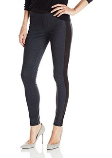 Calvin Klein Jeans Women's Denim Ponte Panelled Legging, Raw Indigo, 6