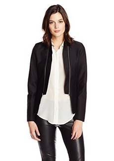 Calvin Klein Jeans Women's Double Zip Collar Jacket