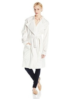 Calvin Klein Jeans Women's Drapey Oversized Trench Coat, Lattice, Small