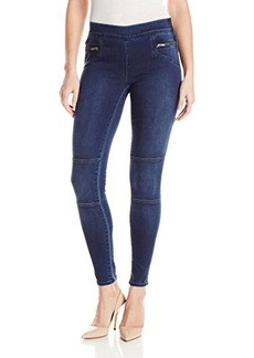 Calvin Klein Jeans Women's Knitigo Moto Legging, Midnight, 32