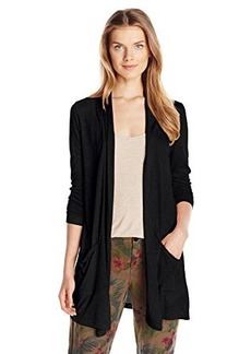 Calvin Klein Jeans Women's Long Sleeve Cardigan with Pockets, Black, X-Large