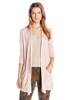 Calvin Klein Jeans Women's Long Sleeve Cardigan with Pockets, Peach Whip, Small