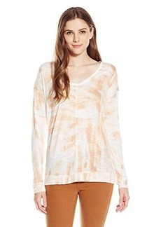Calvin Klein Jeans Women's Long Sleeve Downtown Tee, Nude, Medium